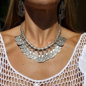 Jewelry - 🎉HOST PICK🎉Tibetan Silver Coin Necklace